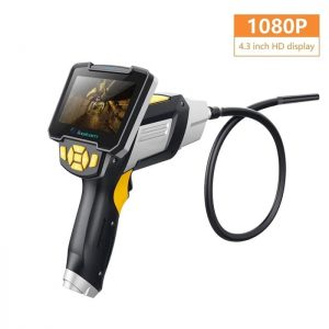 1080P 4.3 Inch Color Endoscope Camera Inspection 10m Cable car repair